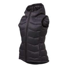 Ell & Voo Womens Morgan Puffer Vest Charcoal XS, Charcoal, rebel_hi-res
