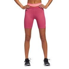 adidas Womens TechFit High-Rise Short Tights, Pink, rebel_hi-res
