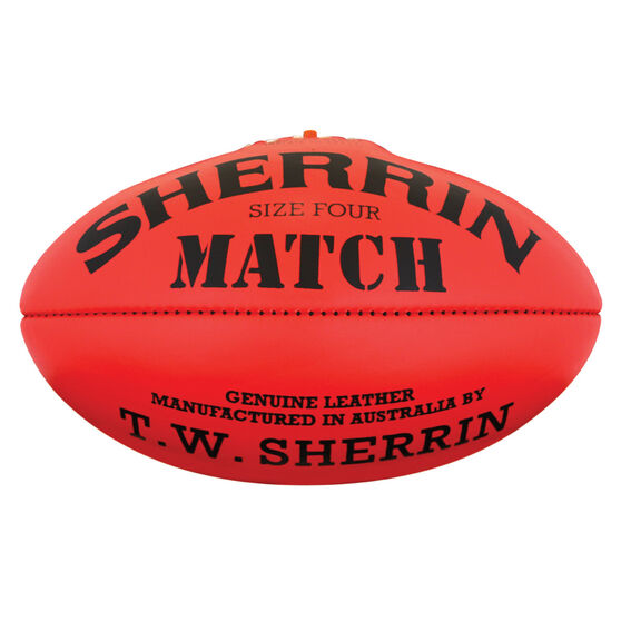 Sherrin Match Australian Rules Ball Red 4, , rebel_hi-res