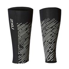2XU Mens Reflect Compression Calf Guards Black / Silver S, Black / Silver, rebel_hi-res