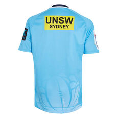 NSW Waratahs 2019 Mens Home Jersey Blue S, Blue, rebel_hi-res