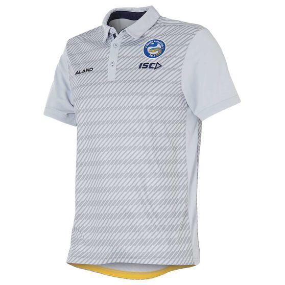 Parramatta Eels 2018 Mens Sublimated Polo Shirt, Grey, rebel_hi-res