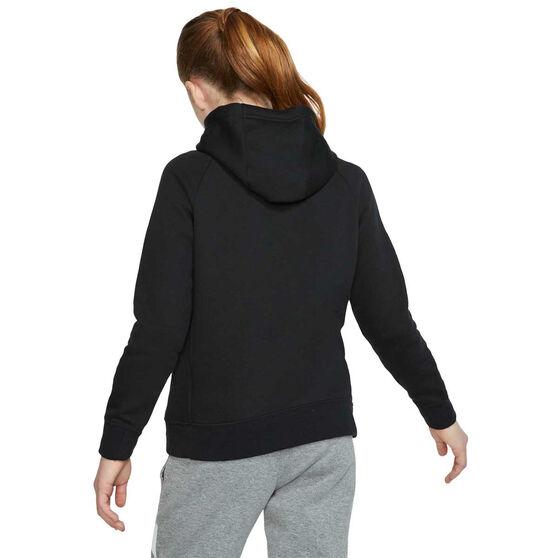 Nike Girls Sportswear Full Zip Hoodie, Black, rebel_hi-res