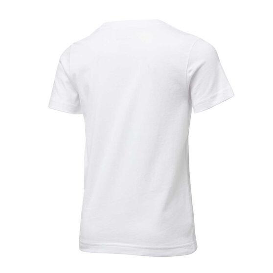 Nike Boys Block Lines Tee, White/Blue, rebel_hi-res