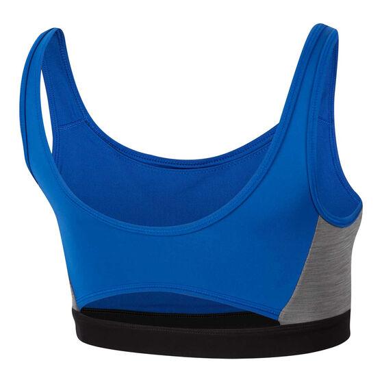 Nike Womens Icon Clash Sports Bra, Royal Blue / Black, rebel_hi-res