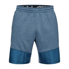 Under Armour Mens MK 1 Terry Training Shorts Blue XS, Blue, rebel_hi-res