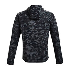 Under Armour Mens Sportstyle Camo Windbreaker Jacket, Black, rebel_hi-res