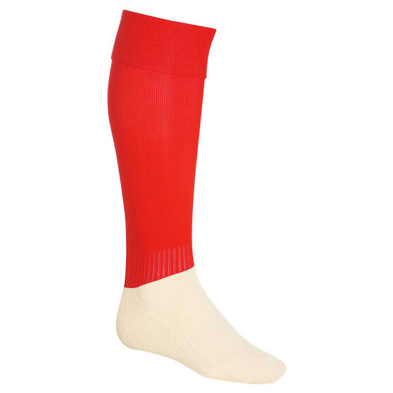 Burley Football Socks, Red, rebel_hi-res