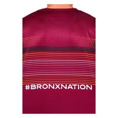 Brisbane Broncos 2021 Mens Run Out Tee, Maroon, rebel_hi-res