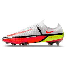 Nike Phantom GT2 Elite Football Boots White/Red US Mens 4 / Womens 5.5, White/Red, rebel_hi-res