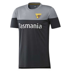 Hawthorn Hawks 2019 Mens Training Tee Black / Grey S, Black / Grey, rebel_hi-res