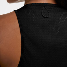 Nike Womens Miler Running Tank, Black, rebel_hi-res