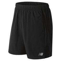 New Balance Mens Accelerate 7in Running Shorts Black S, Black, rebel_hi-res