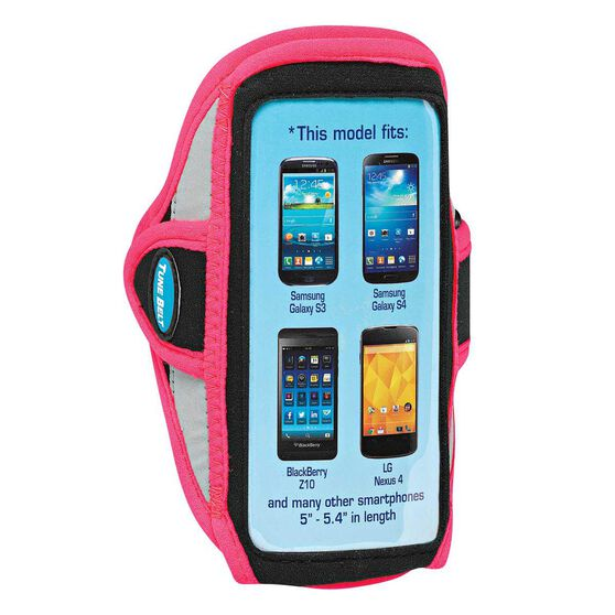 Tune Belt Smart Phone 5.4in Sports Arm Band Pink OSFA, Pink, rebel_hi-res