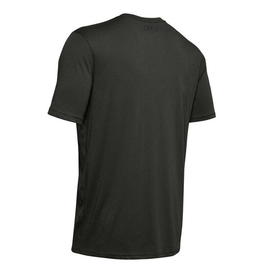 Under Armour Mens Sportstyle Left Chest Tee, Green, rebel_hi-res
