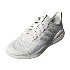 adidas Fluidflow 2.0 Womens Casual Shoes, White/Silver, rebel_hi-res