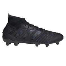 adidas Predator 19.1 Football Boots Black US Mens 7 / Womens 8, Black, rebel_hi-res