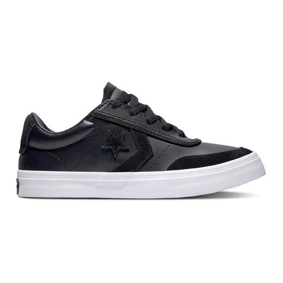 Converse Courtland Kids Casual Shoes, Black / White, rebel_hi-res