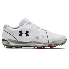 Under Armour Spieth 3 Mens Golf Shoes White / Grey US 7, White / Grey, rebel_hi-res