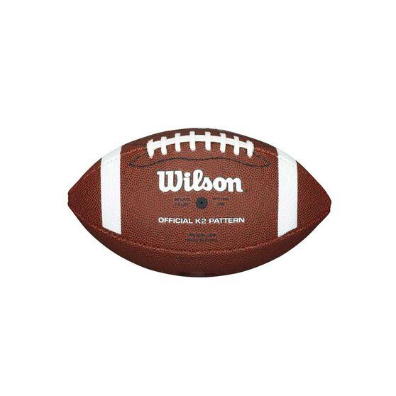 Wilson NFL Pee Wee Football Brown / white 1, , rebel_hi-res