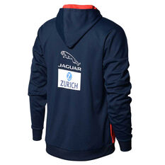 Melbourne Demon 2020 Mens Tech Fleece Hoodie Navy/Red S, Navy/Red, rebel_hi-res