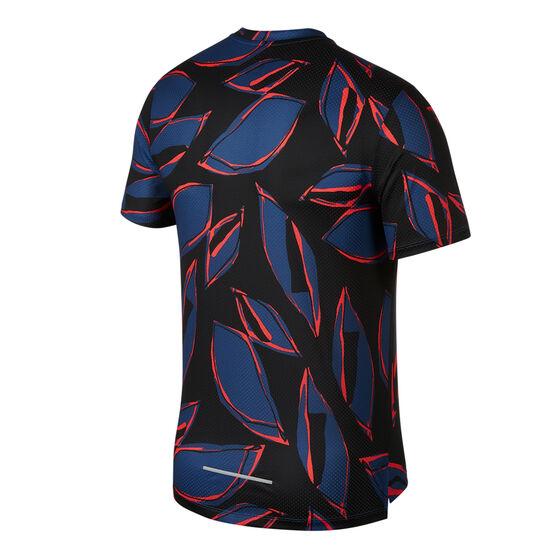 Nike Mens Dri-FIT Miler Floral Fiesta Running Top, , rebel_hi-res