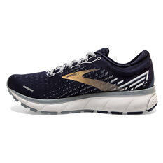 Brooks Ghost 13 Mens Running Shoes, Navy/Green, rebel_hi-res