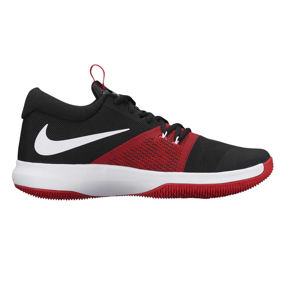 0861104f8a7 Nike Zoom Assersion Mens Basketball Shoes Black   White US 7