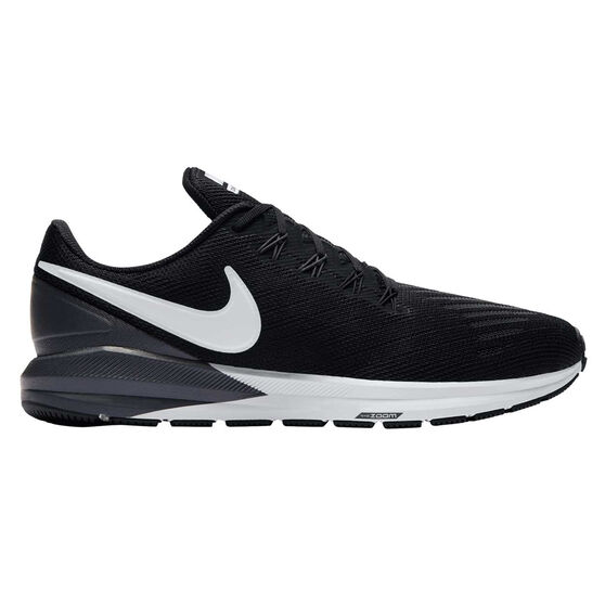 Nike Air Zoom Structure 22 Mens Running Shoes, Black / White, rebel_hi-res