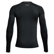 Under Armour Boys Big Logo Long Sleeve Top Black / Grey XS, Black / Grey, rebel_hi-res