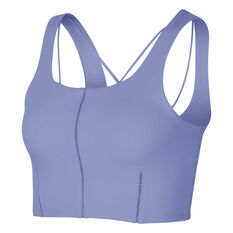 Nike Yoga Womens Luxe Cropped Tank Thistle XS, Thistle, rebel_hi-res