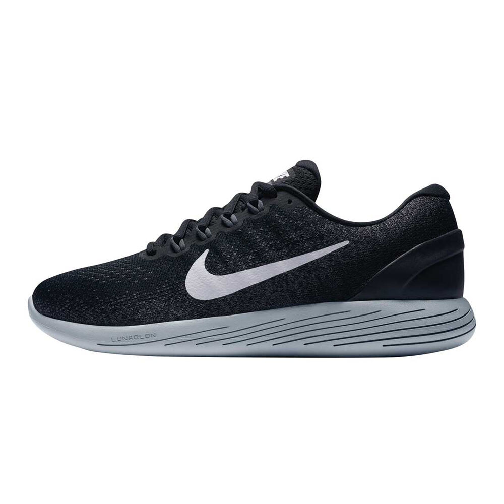 19d685552f17 Nike LunarGlide 9 Mens Running Shoes Black   White US 7