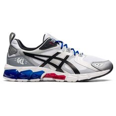 Asics GEL Quantum 180 Mens Casual Shoes White/Silver US 7, White/Silver, rebel_hi-res