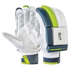 Kookaburra Kahuna Pro 1000 Cricket Batting Gloves White / Green Right Hand, White / Green, rebel_hi-res