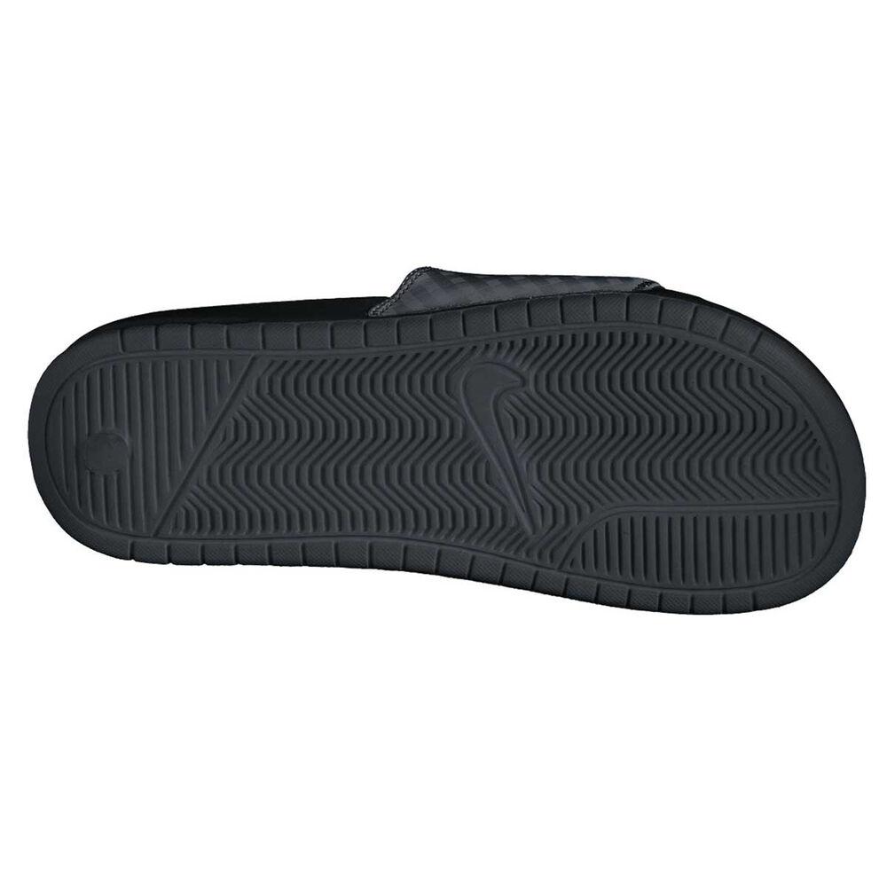 huge selection of e9037 25618 Nike Benassi Just Do It Womens Slides Black  White US 8, Black  White