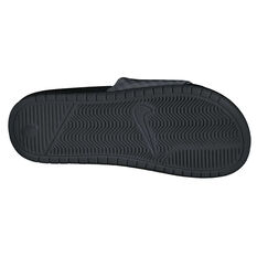Nike Benassi Just Do It Womens Slides Black / White US 6, Black / White, rebel_hi-res