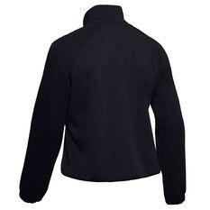 Under Armour Womens UA Double Knit Track Jacket Black XS, Black, rebel_hi-res