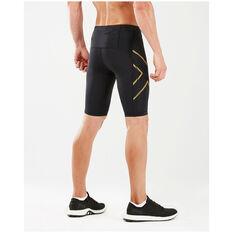 2XU Mens MCS Run Compression Shorts, Black, rebel_hi-res