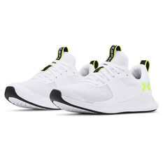 Under Armour Charged Aurora Womens Training Shoes, White/Yellow, rebel_hi-res