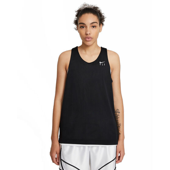 Nike Womens Swoosh Fly Reversible Basketball Jersey, White, rebel_hi-res