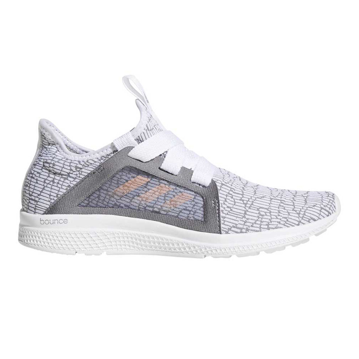 adidas Edge Lux Girls Running Shoes Grey Coral US 4