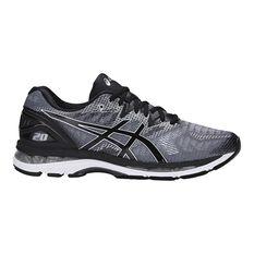Asics GEL Nimbus 20 Mens Running Shoes Grey / Black US 7, Grey / Black, rebel_hi-res