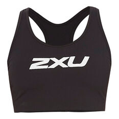 2XU Womens Motion Racerback Sports Bra Black XS, Black, rebel_hi-res