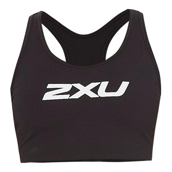2XU Womens Motion Racerback Sports Bra, Black, rebel_hi-res