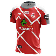 St George Illawarra Dragons 2019 Mens Training Tee Red / White L, Red / White, rebel_hi-res
