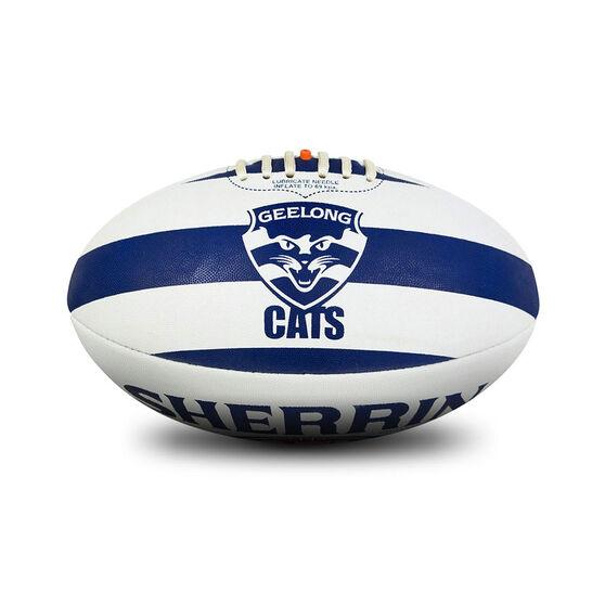 Sherrin AFL Geelong Cats Synthetic Ball, , rebel_hi-res