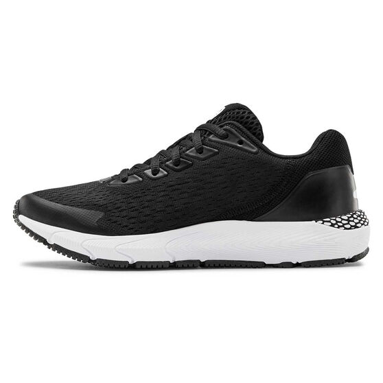 Under Armour HOVR Sonic 3 Kids Running Shoes, Black / White, rebel_hi-res