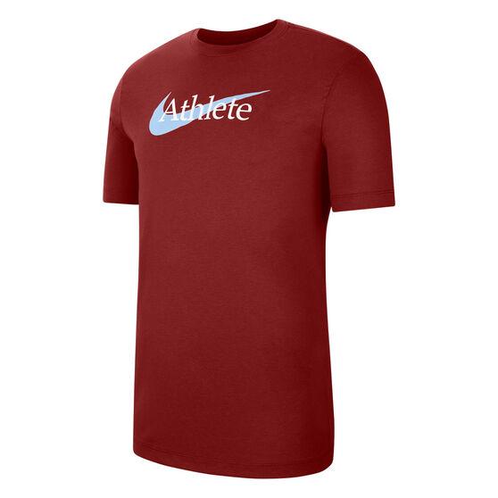 Nike Mens Dri-FIT Swoosh Training Tee, Red, rebel_hi-res