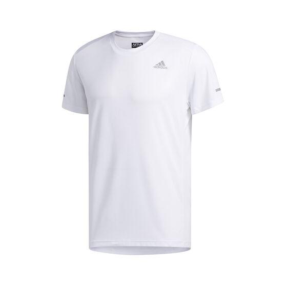 adidas Mens Run It Tee, White, rebel_hi-res