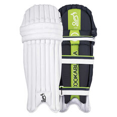 Kookaburra Kahuna Pro 1000 Junior Cricket Pads White / Green Youth, White / Green, rebel_hi-res
